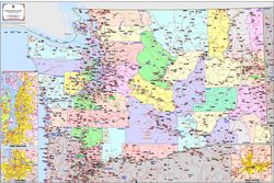 Washington State Zip Code Map by Kroll Map Company