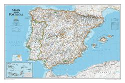 Spain & Portugal Wall Map by National Geographic