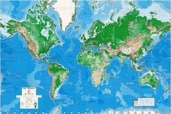 Mural World Wall Map (Wallpaper) - 8 Piece