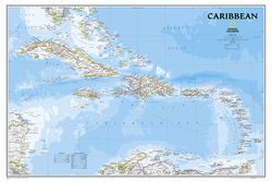 Caribbean Wall Map by National Geographic