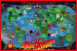 World Monster Map