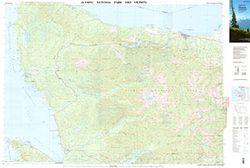 Olympic NP Topographic Map by USGS