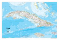 Cuba Wall Map by National Geographic