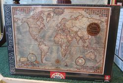Antique Style World Map Puzzle, 1500 Piece