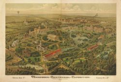 Antique Map of Nashville, TN 1897