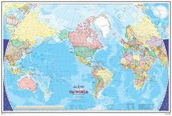 America Centered World Map by Canada Map Office