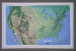USA Raised Relief Map - Small by Kistler