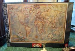 Antique Style World Map Puzzle, 4000 Piece
