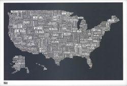 United States Type Map - Slate