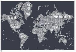 World Type Map - Slate