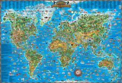 Children's Illustrated Map of the World