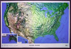 USA Raised Relief Map - Large by Kistler