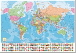World Map Jigsaw Puzzle with Flags