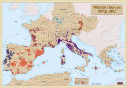 Western Europe Wine Region Map