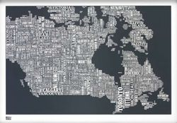 Canada Type Map - Slate