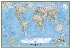 Framed World Map: Political World Map
