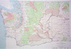 Washington Base Wall Map by USGS