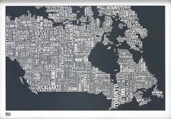 Canada Type Map - Slate