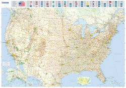 USA Road Map by Michelin