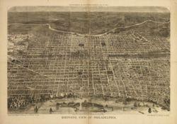 Antique Map of Philadelphia, PA 1872