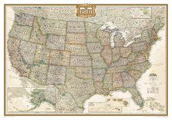Framed U.S. Map: United States Executive Map