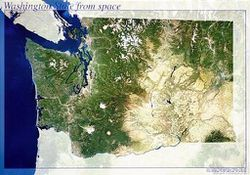 Washington State Satellite Map