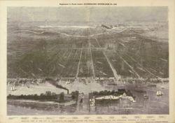 Antique Map of Philadelphia, PA 1876