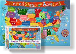 USA Jumbo 2'x3' Floor Puzzle