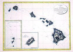 Antique Map of Hawaiian Islands 1794