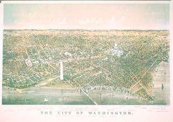 Antique Map of Washington DC 1892
