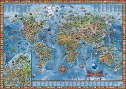 Amazing Kids Illustrated World Wall Map