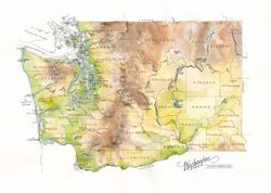 Washington State Watercolor by Elizabeth Person