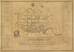 Antique Map of Charleston, SC 1788