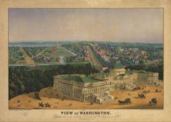 Antique Map of Washington DC 1852