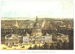 Antique Map of Washington DC 1871