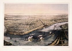 Antique Map of New Orleans 1851