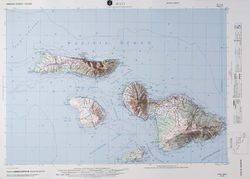 Maui Raised Relief Map by Hubbard