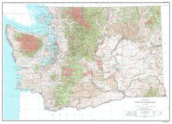 Washington Topographic Wall Map by USGS