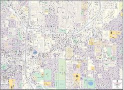 Bellevue Downtown Business District Map & Vicinity