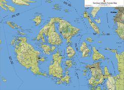 San Juans Terrain Map by Kroll Map Company