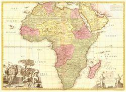 Antique Map of Africa 1725