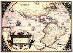 Antique Map of the New World 1570