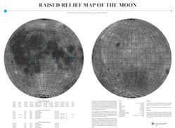 Moon Raised Relief Map