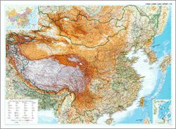 China Wall Map by Gizi