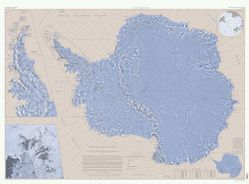 Antarctica Wall Map by USGS