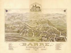 Antique Map of Barre, VT 1884