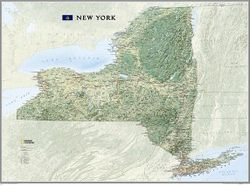 New York State Wall Map by National Geographic