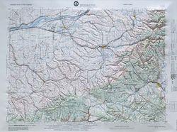 Pendleton Raised Relief Map