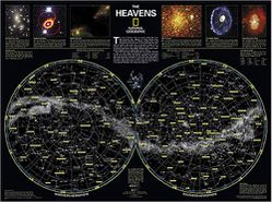 The Heavens Star Chart by National Geographic