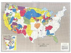 Indian Land Areas Judicially - United States Map